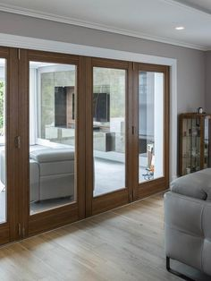Glass doors and window styles: glazing options for your self build House Redesign, Internal Doors, Internal Glazed Doors, Glass Room Divider, Wall Lights Living Room, Living Room Design Decor, Room Divider Doors, Sliding Room Dividers, Window Styles