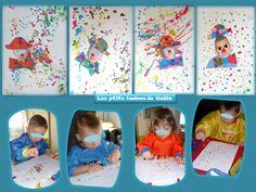 Bricolage enfants pour le carnaval. Les p'tits clowns
