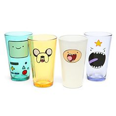 Adventure Time Face Pint Glass Set vasos hora de aventuras
