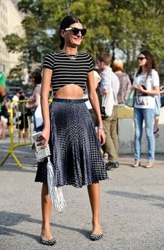 Giovanna Battaglia street style at Milan Fashion Week