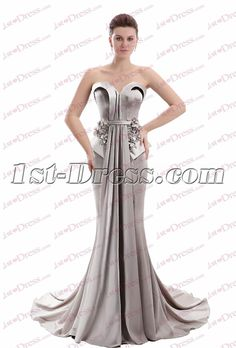 1st-dress.com Offers High Quality Charming Strapless Silver Sheath Mother of Groom Dress,Priced At Only US$165.00 (Free Shipping)