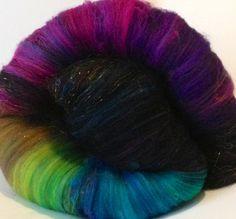 COMMON GRACKLE superwash merino spinning batts  by enchantedknoll, $28.00