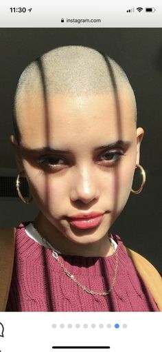 She looks like the sweetest, little troublemaker.reminds me of me. Natural Hair Styles, Short Hair Styles, Barbers Cut, Short Hair Model, Shave My Head, Going Bald, Bald Hair, Bald Women, Hair Loss Treatment
