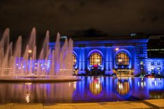 Kansas City Union Station at Night,  Fine Art Photography by Pitts Photography