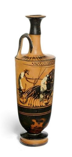 AN ATTIC BLACK-FIGURED LEKYTHOS - ATTRIBUTED TO THE HAIMON GROUP, CIRCA 490-480 B.C.