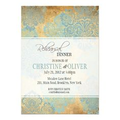 See MoreVintage Aqua Damask Rehearsal Dinner Invitationin each seller & make purchase online for cheap. Choose the best price and best promotion as you thing Secure Checkout you can trust Buy best