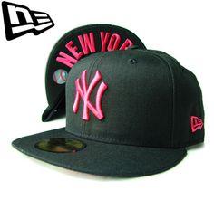 """【ニューエラ】【NEW ERA】59FIFTY NEW YORK YANKEES """"NY"""" ブラックxストロベリーピンク BROOKLYNアンダーバイザー【CAP】【newera】【ニューヨーク・ヤンキース】【帽子】【PINK】【under visor】【multi color】【白】【黒】【BLACK】【キャップ】【あす楽】【楽天市場】"""