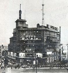 1927年(昭和2年)朝日新聞本社(数寄屋橋)電光ニュースは昭和3年に設置