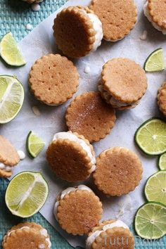 Key Lime Pie Ice Cream Sandwiches Jump to Recipe There's something fun and carefree about turning your favorite desserts into frozen treats, making them… Frozen Desserts, Frozen Treats, Just Desserts, Delicious Desserts, Dessert Recipes, Yummy Food, Fruit Recipes, Pie Recipes, Slow Cooker Desserts