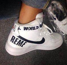 "Supreme x Nike Air Force 1 High - ""White"" Check more at http://www.freshnessmag.com/2014/08/26/supreme-x-nike-air-force-1-high-white/"