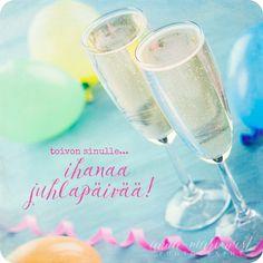Se on siinä Word Symbols, Glass Of Milk, Congratulations, Champagne, Anna, Happy Birthday, Words, Tableware, Crafts