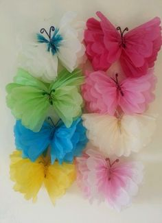 wedding party baby shower butterfly decorations TISSUE PAPER POMPOMS garland in Home, Furniture & DIY, Celebrations & Occasions, Party Supplies | eBay