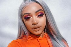 """392 Likes, 13 Comments - J A S M Y N • D E S T I N E (@jasmyndestine) on Instagram: """"Today's makeup of the day! I'm in love with this hair, it's a wig from @evawigs that I colored…"""""""