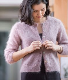 Ravelry: Quintessential Cardigan pattern by Churchmouse Yarns and Teas ~ 2ply on 3.75mm needle!