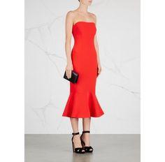 Luna red strapless midi dress - Dresses - All Clothing - Women