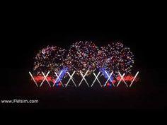 Synchronized Fireworks Show - 1