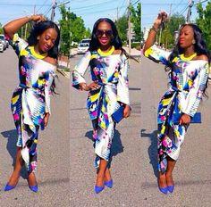 Love...tulip style Iro and Buba ~African fashion, Ankara, kitenge, African women dresses, African prints, African men's fashion, Nigerian style, Ghanaian fashion ~DKK