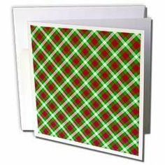 "777images Designs Patterns - Holiday lattice Tartan pattern in red emerald green and white - Greeting Cards-6 Greeting Cards with envelopes by 3dRose. $12.49. Holiday lattice Tartan pattern in red emerald green and white Greeting Card is a great way to say ""thank you"" or to acknowledge any occasion. These blank cards are made of heavy duty card stock with a gloss exterior and a matte interior for smudge free writing. Cards are creased for easy folding and come with ..."