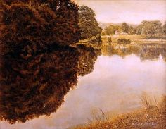 idyllic -- tranquil water, reflections, empty of people