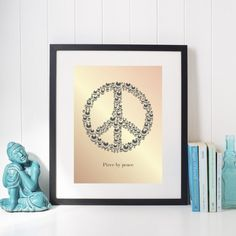 "Illustration ""Piece by Peace"" aprikos Digital Illustration, Wordpress, Posters, Peace, Decor, Decoration, Decorating, Dekorasyon, Postres"