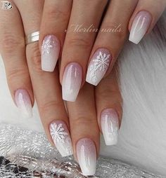 40 Gorgeous Ombre Nail art 2019 – Reny styles 40 Gorgeous Ombre Nail art 2019 – Reny styles,Nails Related Crazy Cute Winter Nail Designs Worth Copying This Year! Chistmas Nails, Xmas Nails, Holiday Nails, Christmas Acrylic Nails, Christmas Nails 2019, Christmas Time, Winter Acrylic Nails, Pink Christmas, Christmas Nail Designs