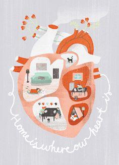 Oh the lovely things: Anatomical Heart Art Maggie Li Heart Illustration, Medicine Illustration, You Draw, Grafik Design, Heart Art, Art Drawings, Valentines, Valentine Heart, Artsy