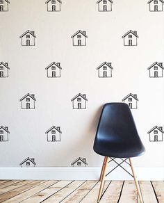Sketched Houses  WALL DECAL by TheLovelyWall on Etsy
