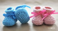Free Easy Baby Bootie Patterns | note the booties should take a nice shape but i want to make you sure ...