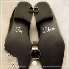 Groom Shoes Decal  I'm Taken   Wedding Shoes Sticker