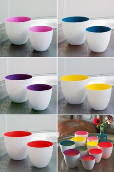 Porcelain Tea Light Holders by Graham and Green. Yes, I am obsessed. Oh the colour...