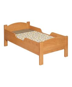 Take a look at this Honey Oak Toddler Bed by Little Colorado on #zulily today!