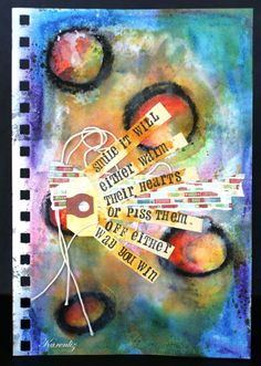 Art Journaling by Karenlizh  I like how she displayed the words