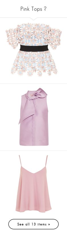 """""""Pink Tops 🌸"""" by izzystarsparkle ❤ liked on Polyvore featuring tops, blouses, shirts, blusas, multicoloured, off-the-shoulder blouses, pink shirt, pink lace shirt, off-shoulder blouses and off-shoulder tops"""