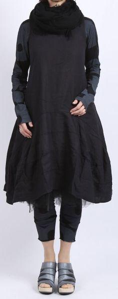 rundholz black label - Shirtbluse mit Buchstaben Langarm black print - Sommer…