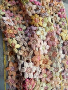 """Small """"Freesia"""" linen scarf 