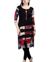 Buy black Viscose Party wear Awesome Kurti ethnic-kurti online