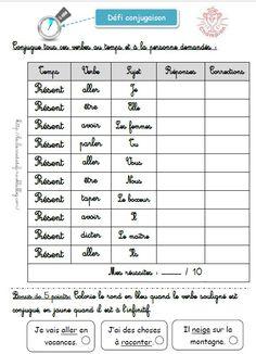 ce2: les verbes du 1er groupe à l'imparfait-Exercices | Passé composé, Ce2, Exercices passé composé