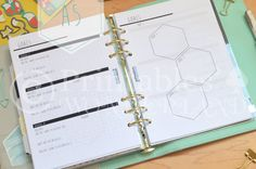 A5 weekly goals planner inserts - Inserts objectifs hebdomadaires organiseur A5