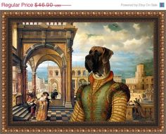 HOLIDAY SALE Great Dane Fine Art Canvas Print by by NobilityDogs, $43.00