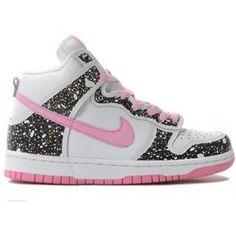 308319 016 Nike Women Dunk High Bubblegum Custom Black Pink White K02006