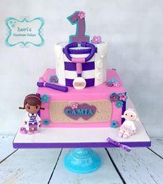 Doc McStuffins Birthday cake by Lori Mahoney
