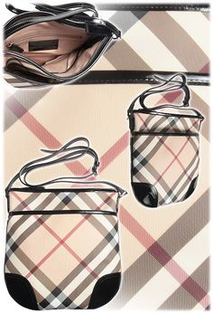 Burberry Handbags - Fall - Winter 2012/13 - luxurious PVC patent leather & gorgeous black/beige color combination. So typical Burberry!
