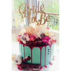 Bride To Be Cake topper Bridal Shower cake topper by PoshMyParty