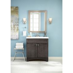 Website Photo Gallery Examples Shop Style Selections Drayden Grey Integral Single Sink Bathroom Vanity with Cultured Marble Top Common