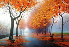 Fall, misty morning   by Syuzanna Avetisyan