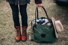 www.duluthpack.com | Top-selling item - The #DuluthPack Market Tote in Olive Drab Canvas.