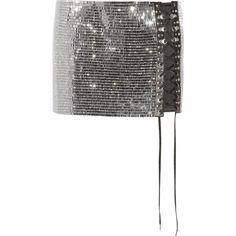 Anthony Vaccarello Lace-up crystal-embellished satin mini skirt (€2.025) ❤ liked on Polyvore featuring skirts, mini skirts, anthony vaccarello, bottoms, silver, short mini skirts, cocktail skirt, embellished mini skirt and evening skirts