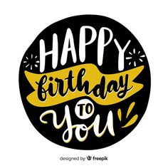 Discover thousands of free-copyright vectors on Freepik Happy Birthday Logo, Happy Birthday In Spanish, Happy 17th Birthday, Happy Birthday Printable, Birthday Words, Birthday Letters, Happy Birthday Cake Topper, Birthday Wishes Cards, Happy Birthday Messages