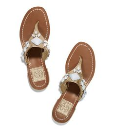 Ginerva Thong Sandal - PLATINUM. i AM LOVING HER SUMMER SHOES THEY ARE ALL GORGEOUS.