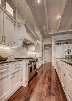 Walnut Kitchen Flooring. Walnut Kitchen Floor ideas. The kitchen floor is Walnut - Valley d'Aosta - Rustic, Black Coffee. #Walnut #Kitchen #Flooring #WalnutKitchen #Floors Calusa Construction, Inc.